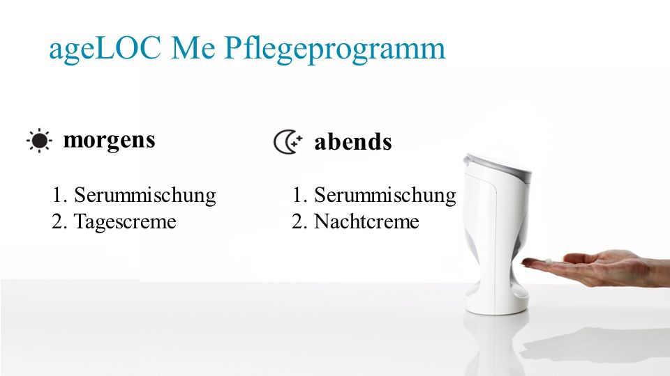 ageLOC Me Pflegeprogramm