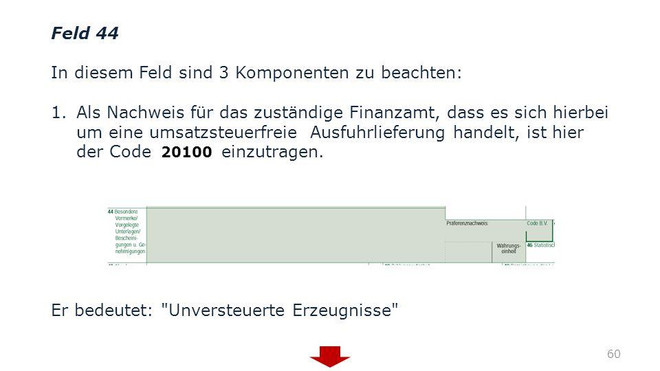 In diesem Feld sind 3 Komponenten zu beachten: