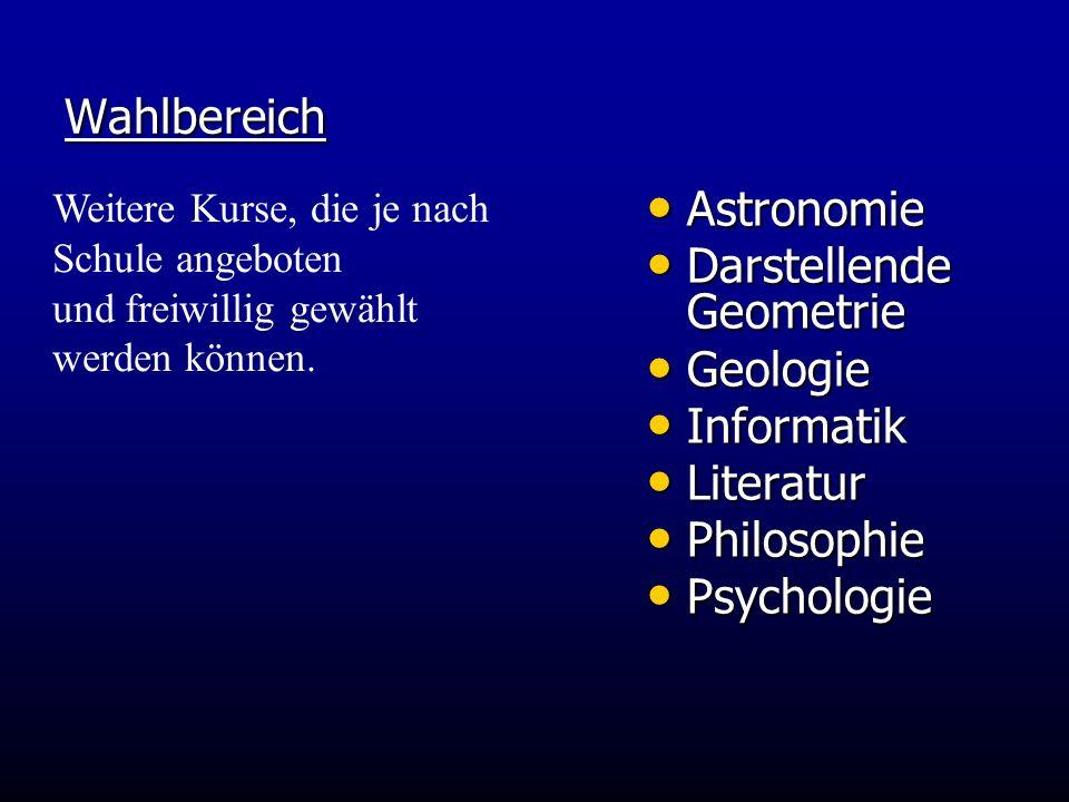 Darstellende Geometrie Geologie Informatik Literatur Philosophie