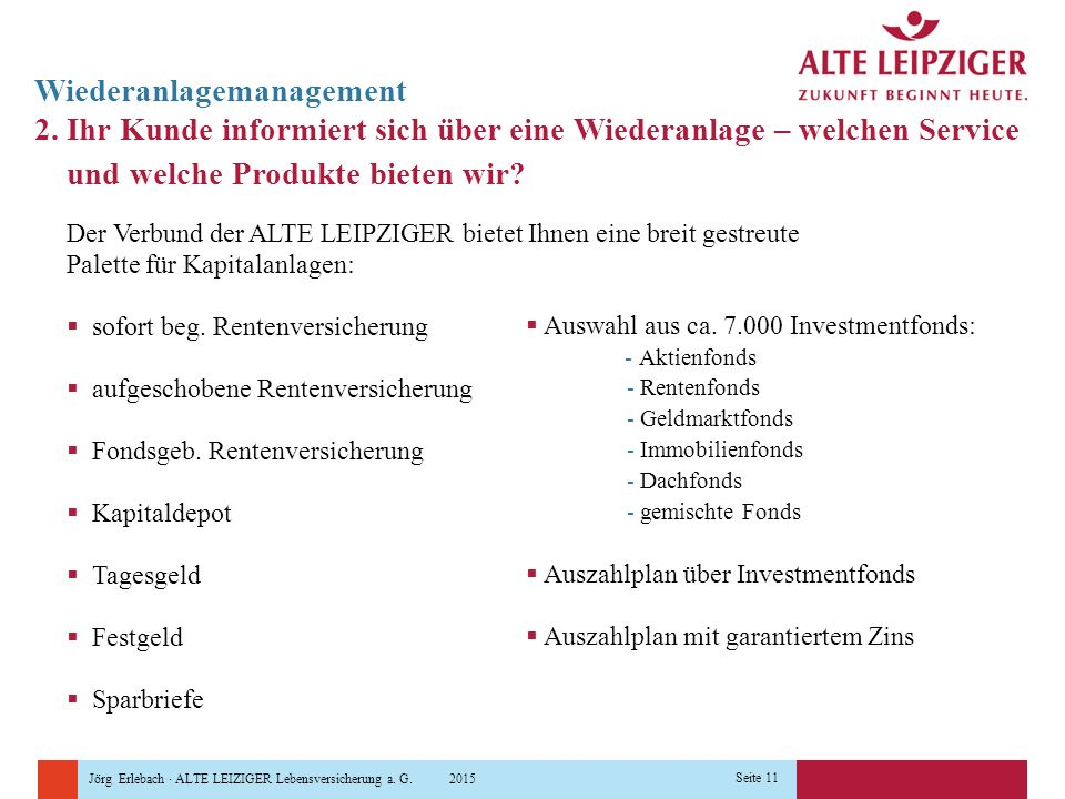 Wiederanlagemanagement