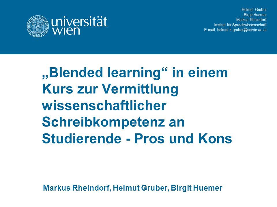 Markus Rheindorf, Helmut Gruber, Birgit Huemer