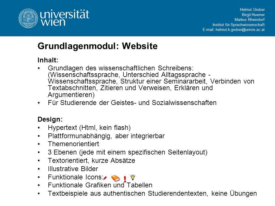 Grundlagenmodul: Website