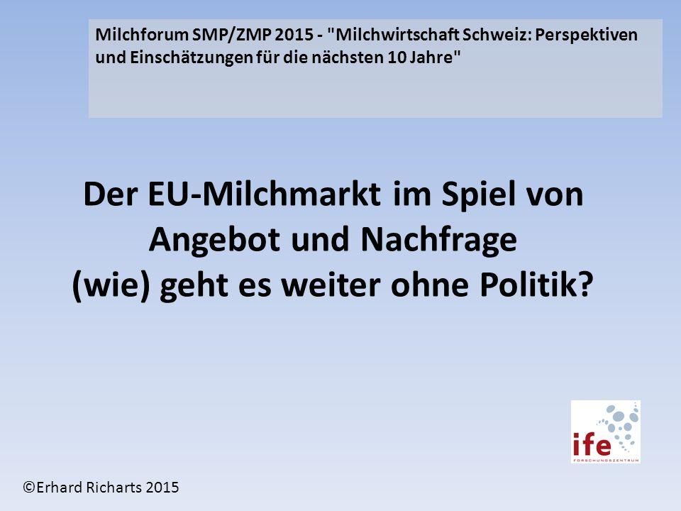 Milchforum SMP/ZMP 2015 - Milchwirtschaft Schweiz: Perspektiven und Einschätzungen für die nächsten 10 Jahre