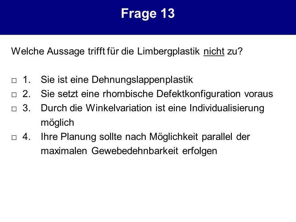 Frage 13 Welche Aussage trifft für die Limbergplastik nicht zu