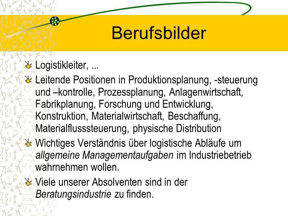 Berufsbilder Logistikleiter, ...