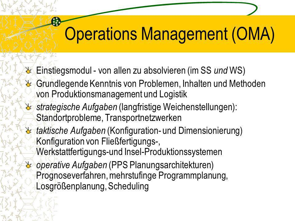 Operations Management (OMA)