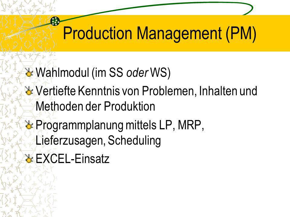 Production Management (PM)