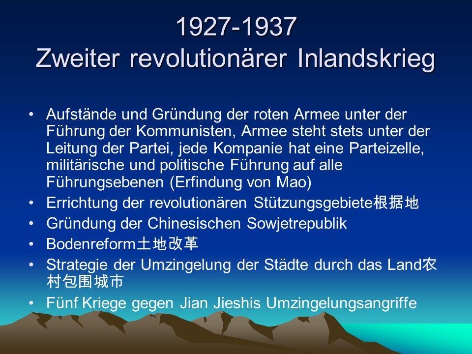 1927-1937 Zweiter revolutionärer Inlandskrieg