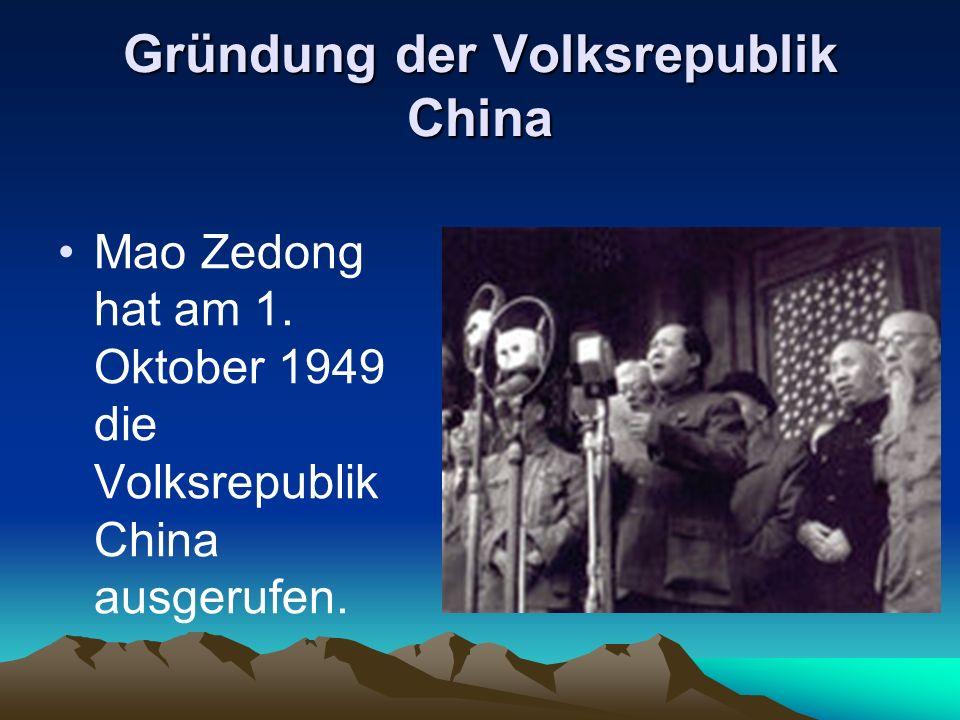 Gründung der Volksrepublik China