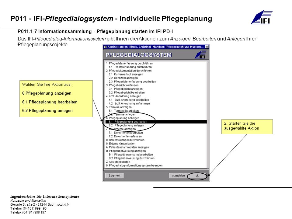 P011.1-7 Informationssammlung - Pflegeplanung starten im IFI-PD-I