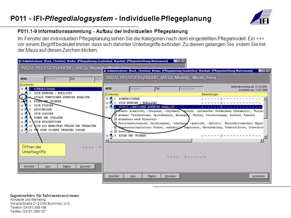 P011.1-9 Informationssammlung - Aufbau der individuellen Pflegeplanung