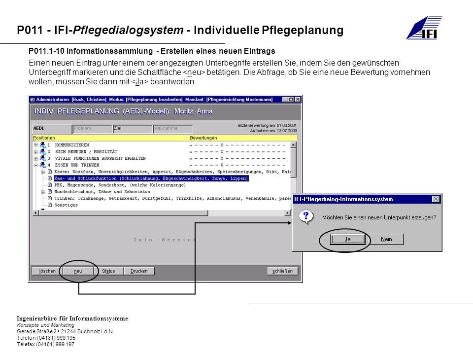 P011.1-10 Informationssammlung - Erstellen eines neuen Eintrags