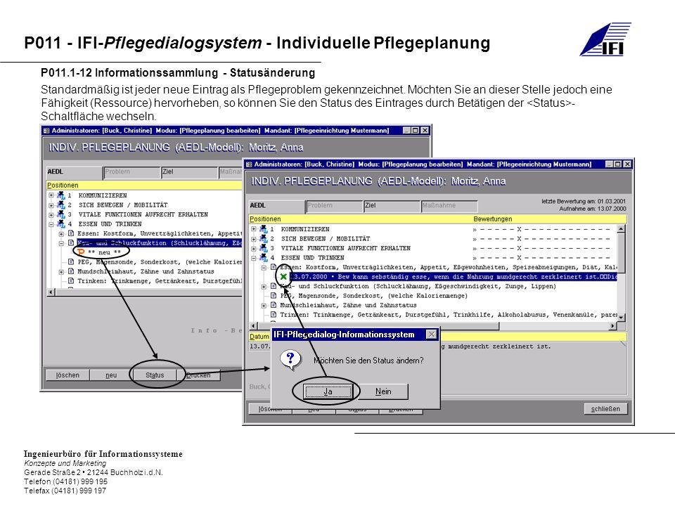 P011.1-12 Informationssammlung - Statusänderung