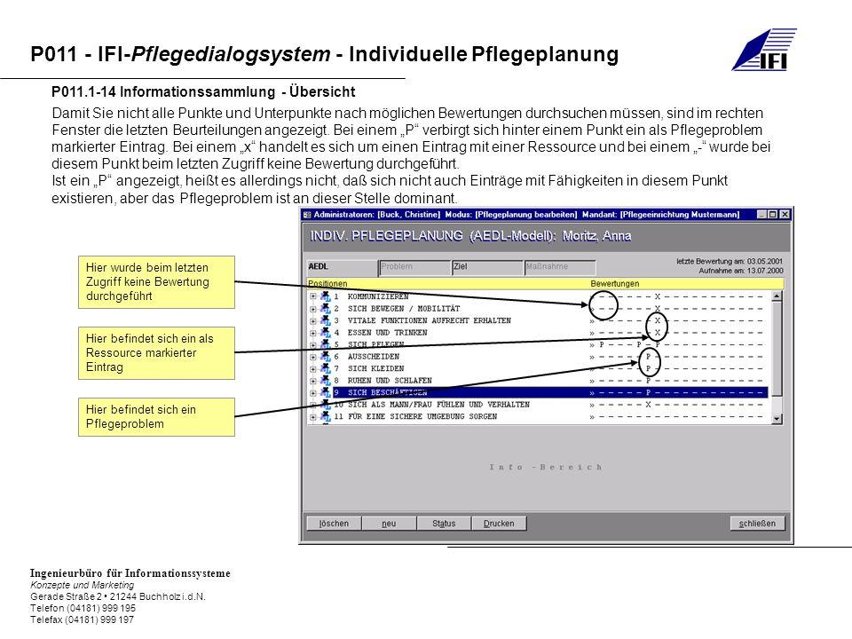 P011.1-14 Informationssammlung - Übersicht