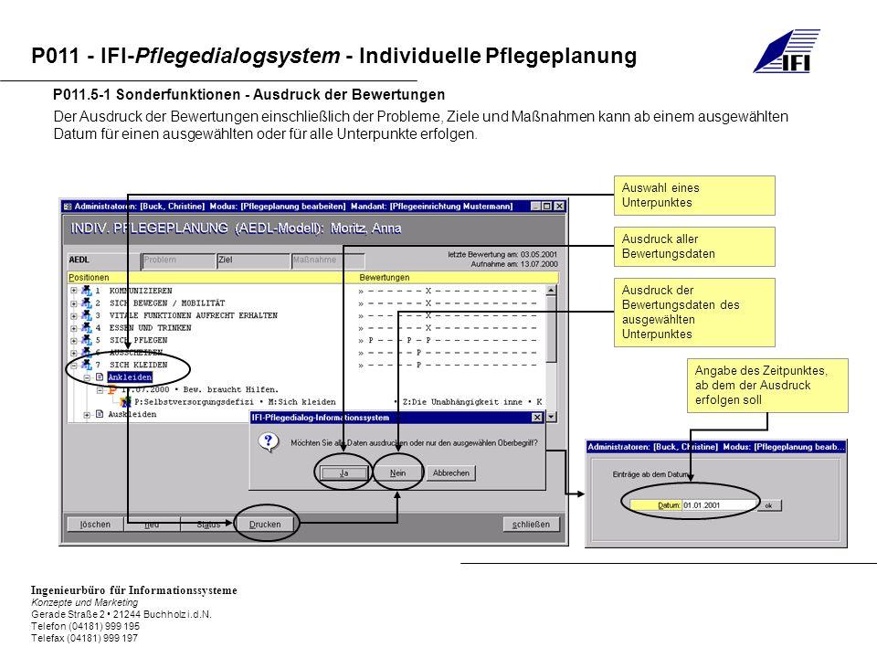 P011.5-1 Sonderfunktionen - Ausdruck der Bewertungen