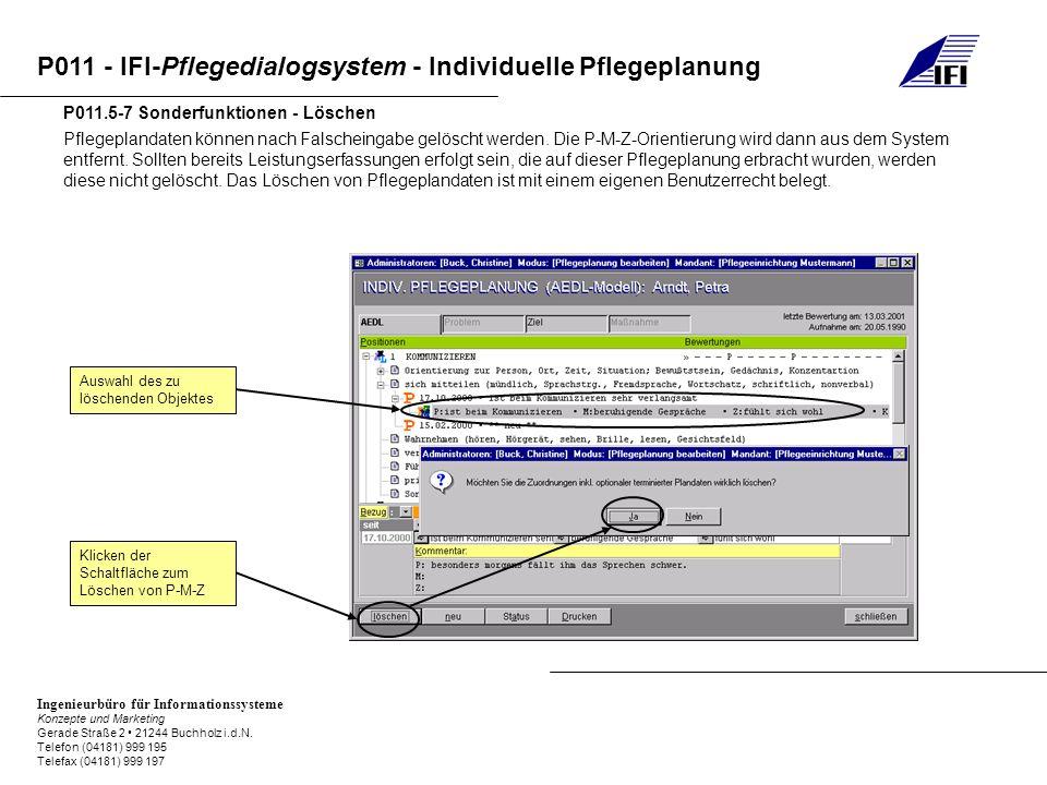 P011.5-7 Sonderfunktionen - Löschen