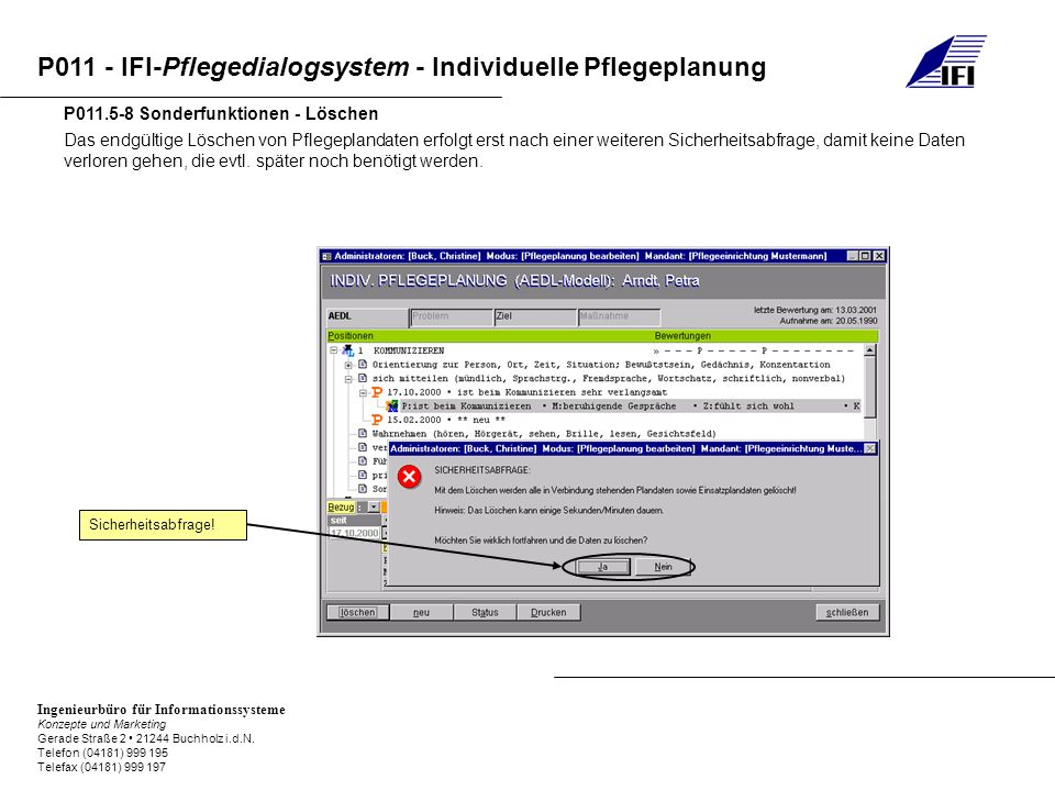 P011.5-8 Sonderfunktionen - Löschen