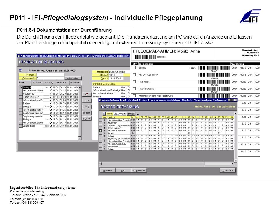 P011.6-1 Dokumentation der Durchführung