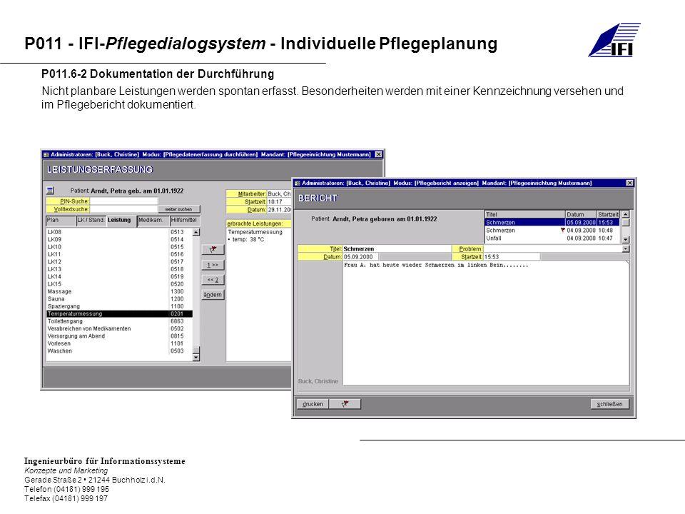 P011.6-2 Dokumentation der Durchführung