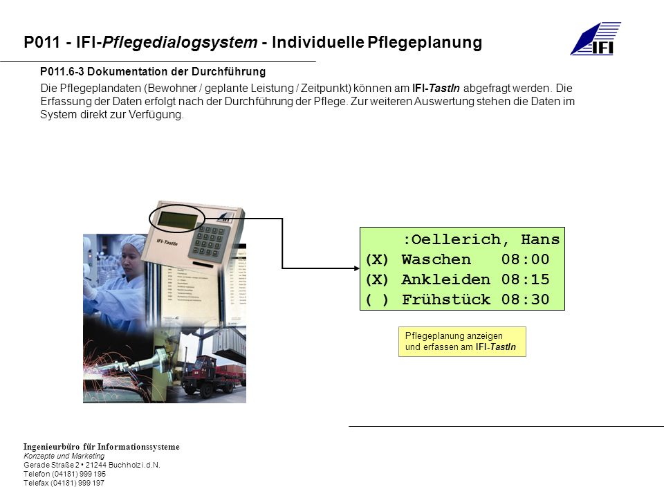 :Oellerich, Hans (X) Waschen 08:00 (X) Ankleiden 08:15