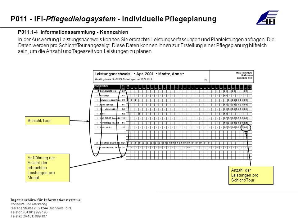 P011.1-4 Informationssammlung - Kennzahlen