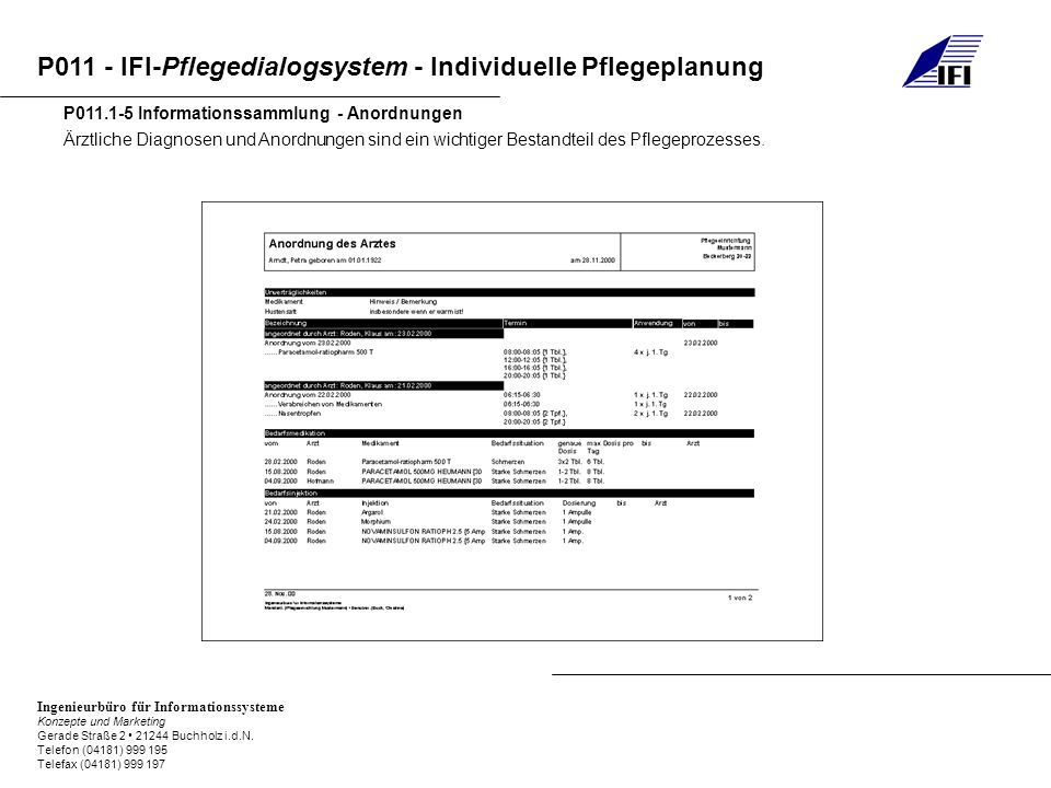 P011.1-5 Informationssammlung - Anordnungen