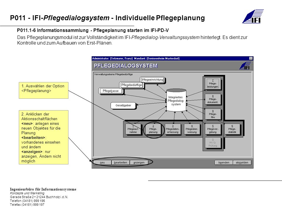 P011.1-6 Informationssammlung - Pflegeplanung starten im IFI-PD-V