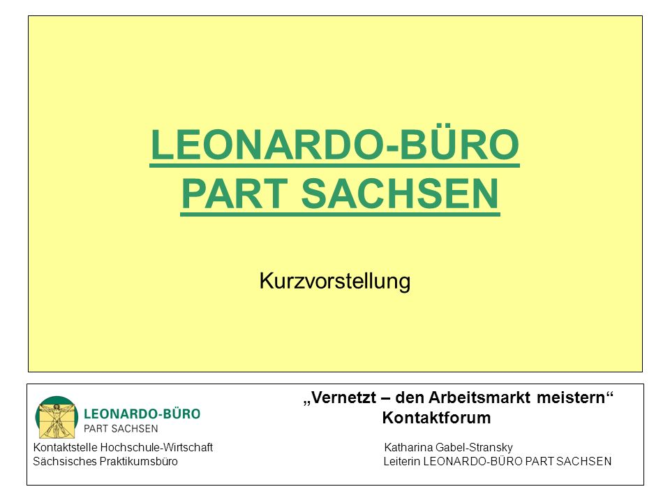 LEONARDO-BÜRO PART SACHSEN