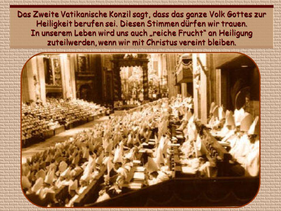 Das Zweite Vatikanische Konzil sagt, dass das ganze Volk Gottes zur Heiligkeit berufen sei.