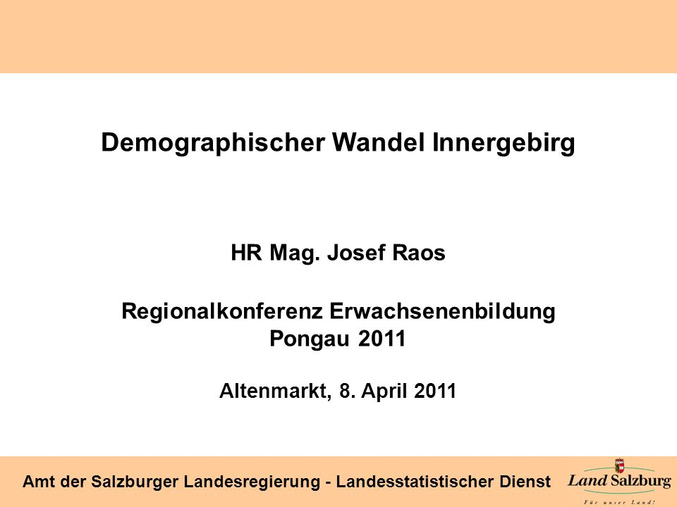 Demographischer Wandel Innergebirg