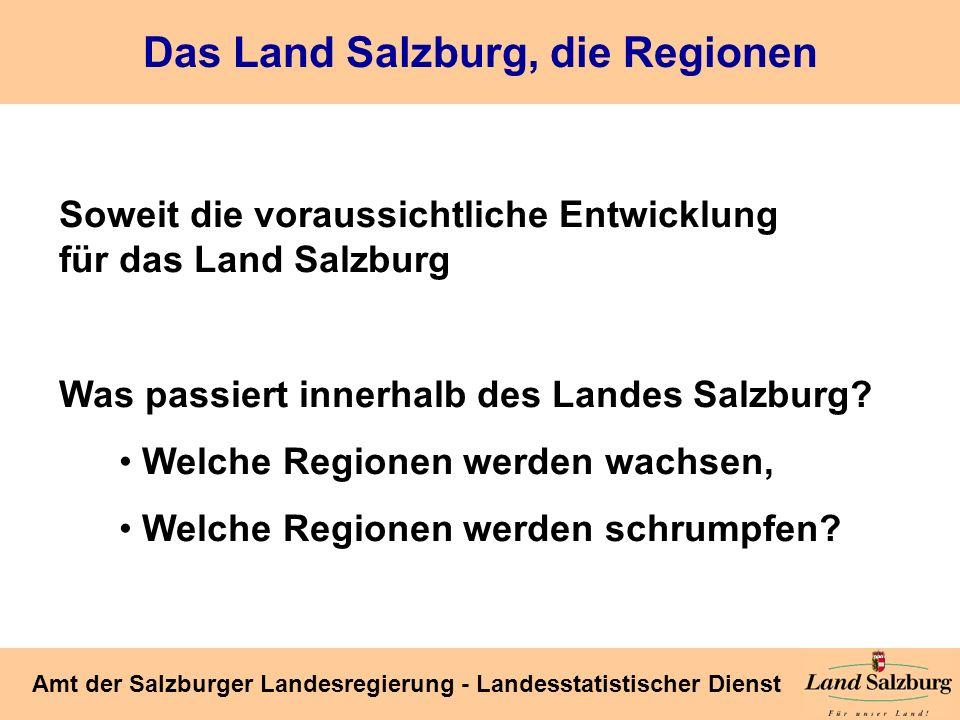 Das Land Salzburg, die Regionen