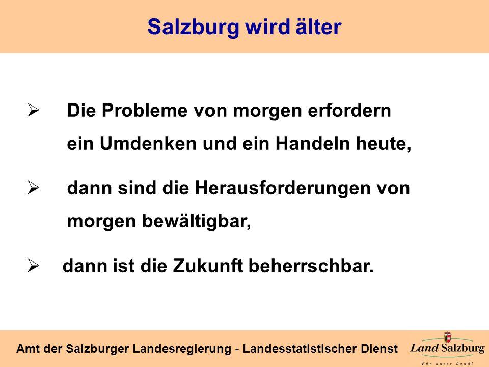 Salzburg wird älter Die Probleme von morgen erfordern ein Umdenken und ein Handeln heute,