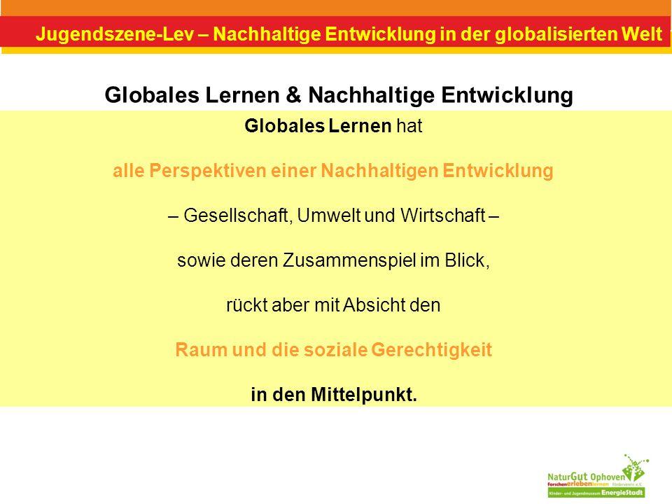 Globales Lernen & Nachhaltige Entwicklung