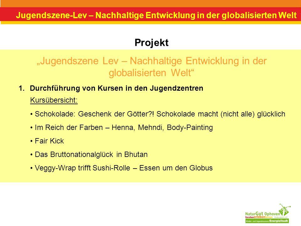 """""""Jugendszene Lev – Nachhaltige Entwicklung in der globalisierten Welt"""