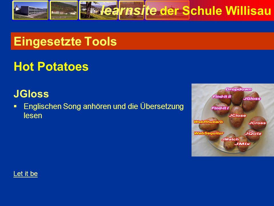 Eingesetzte Tools Hot Potatoes JGloss