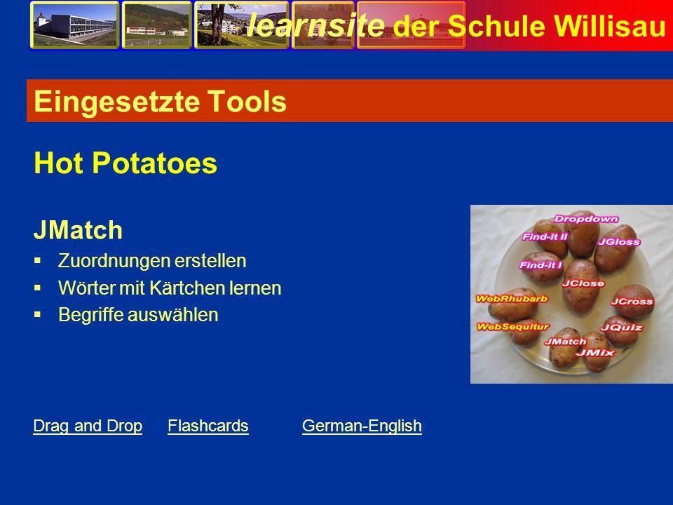 Eingesetzte Tools Hot Potatoes JMatch Zuordnungen erstellen