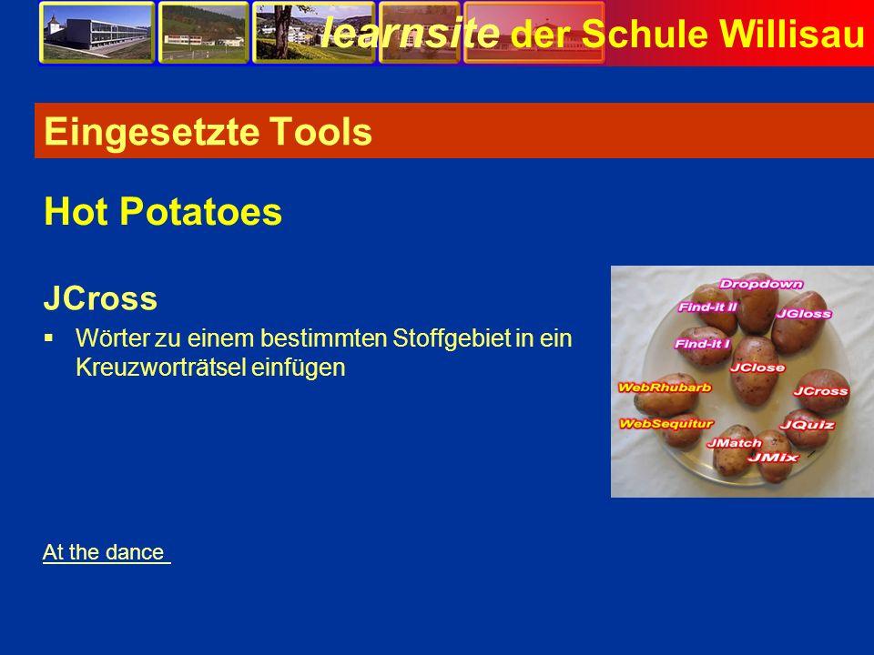 Eingesetzte Tools Hot Potatoes JCross