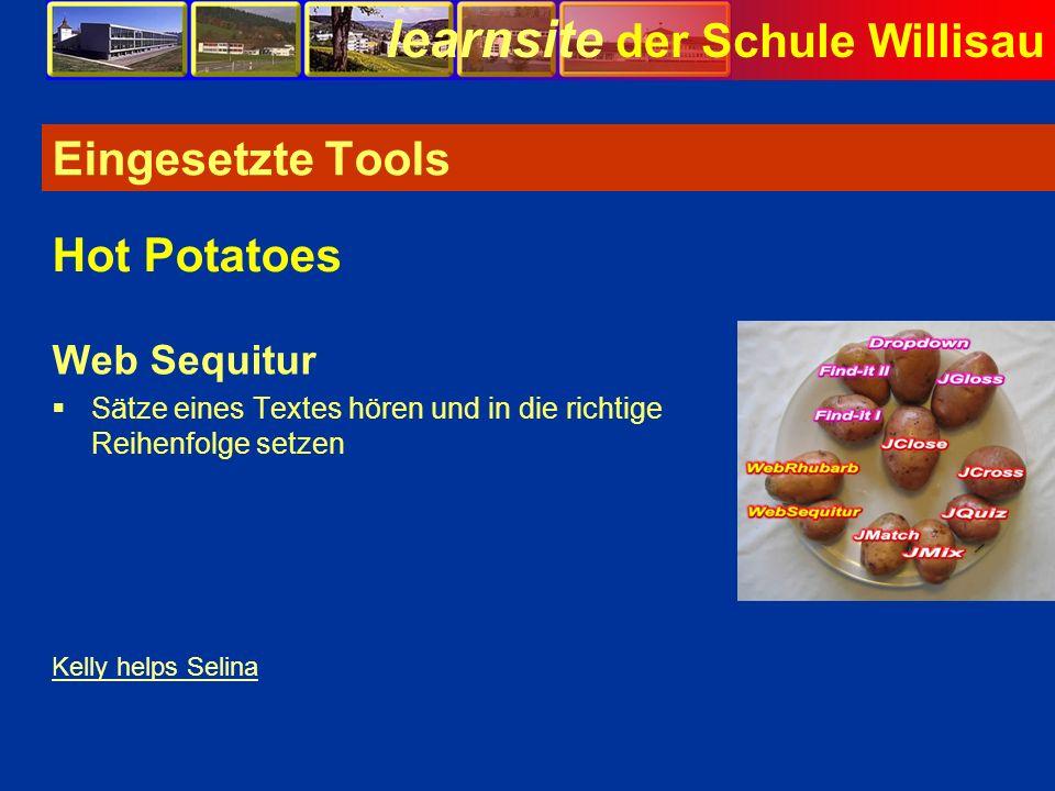 Eingesetzte Tools Hot Potatoes Web Sequitur