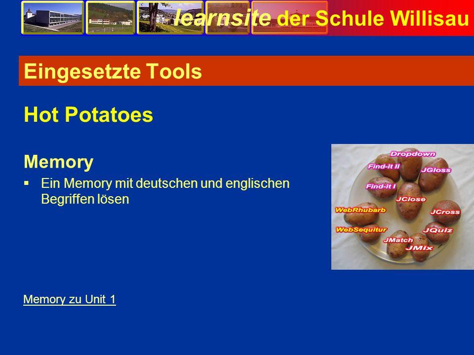 Eingesetzte Tools Hot Potatoes Memory