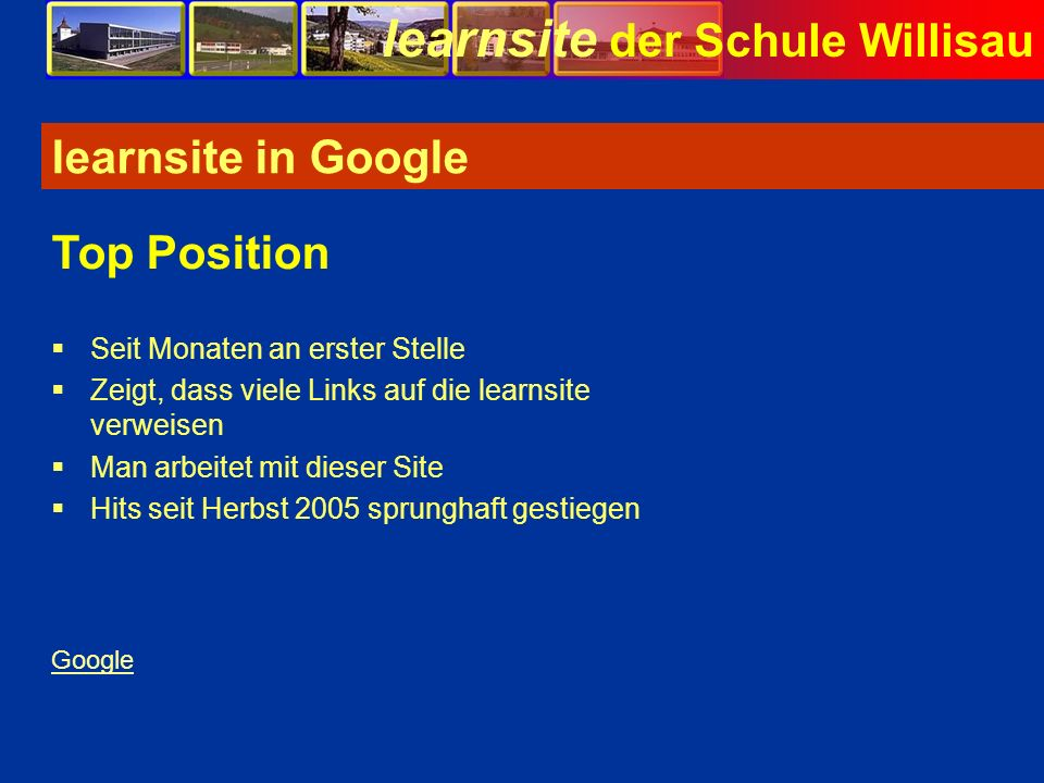 learnsite in Google Top Position Seit Monaten an erster Stelle