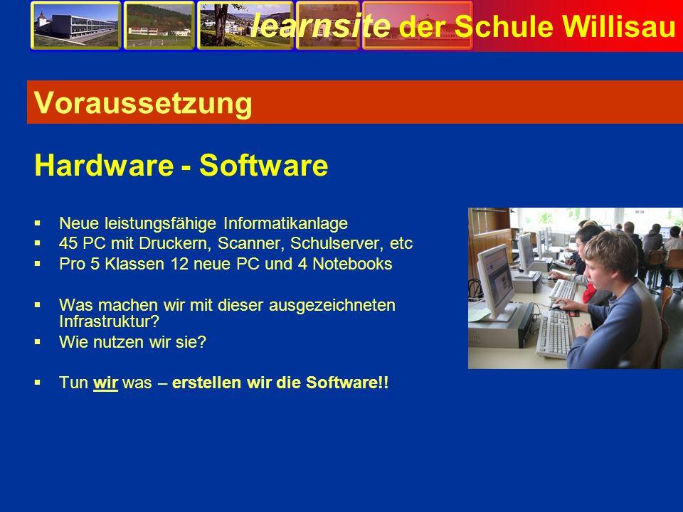Voraussetzung Hardware - Software