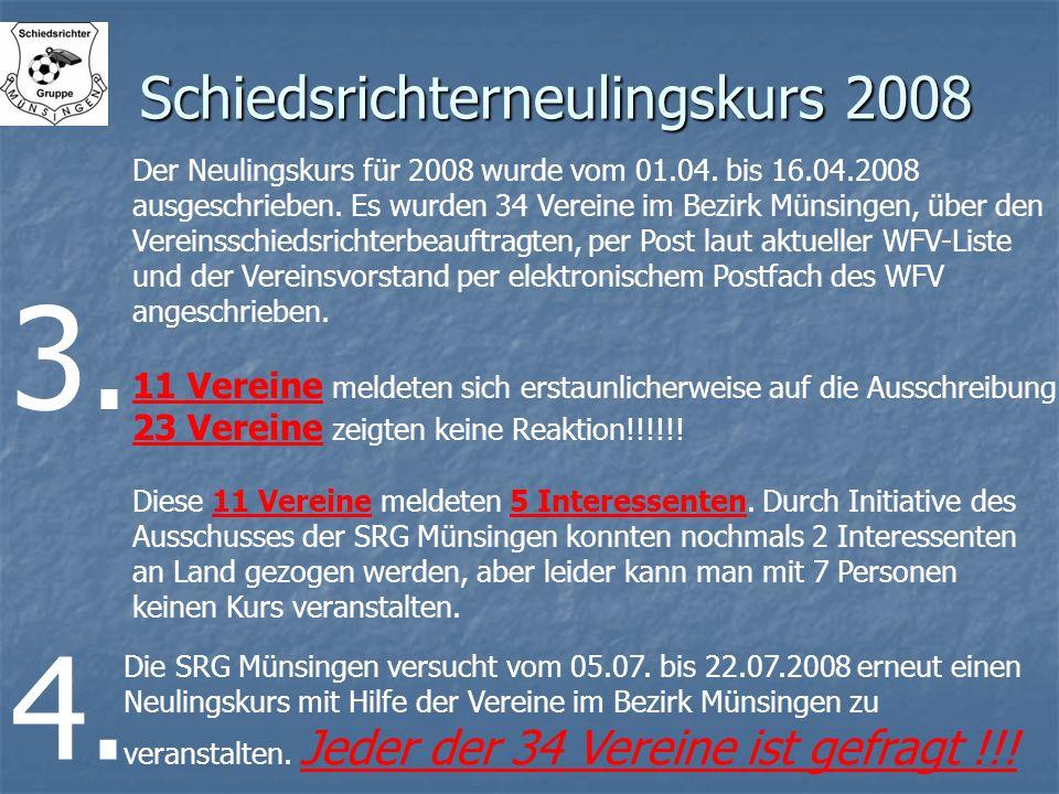 Schiedsrichterneulingskurs 2008