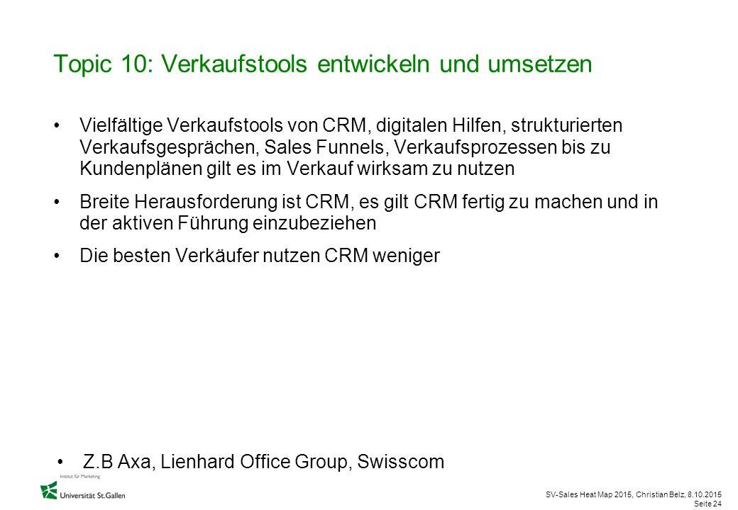 Topic 10: Verkaufstools entwickeln und umsetzen