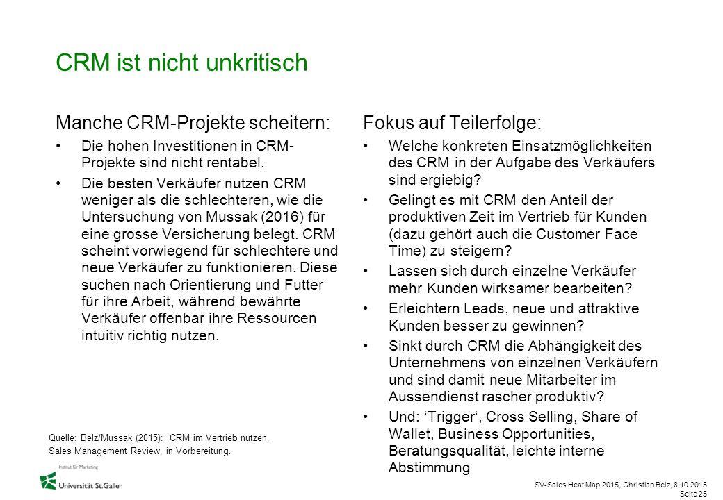 CRM ist nicht unkritisch
