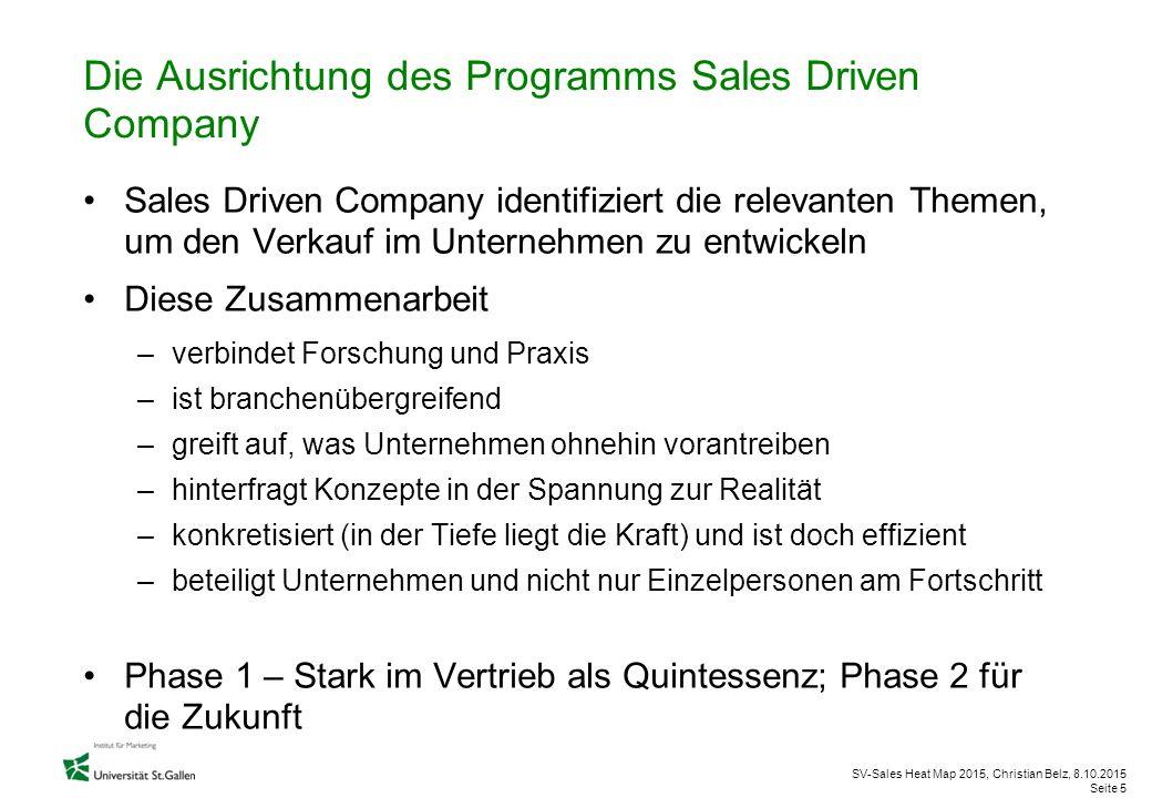 Die Ausrichtung des Programms Sales Driven Company