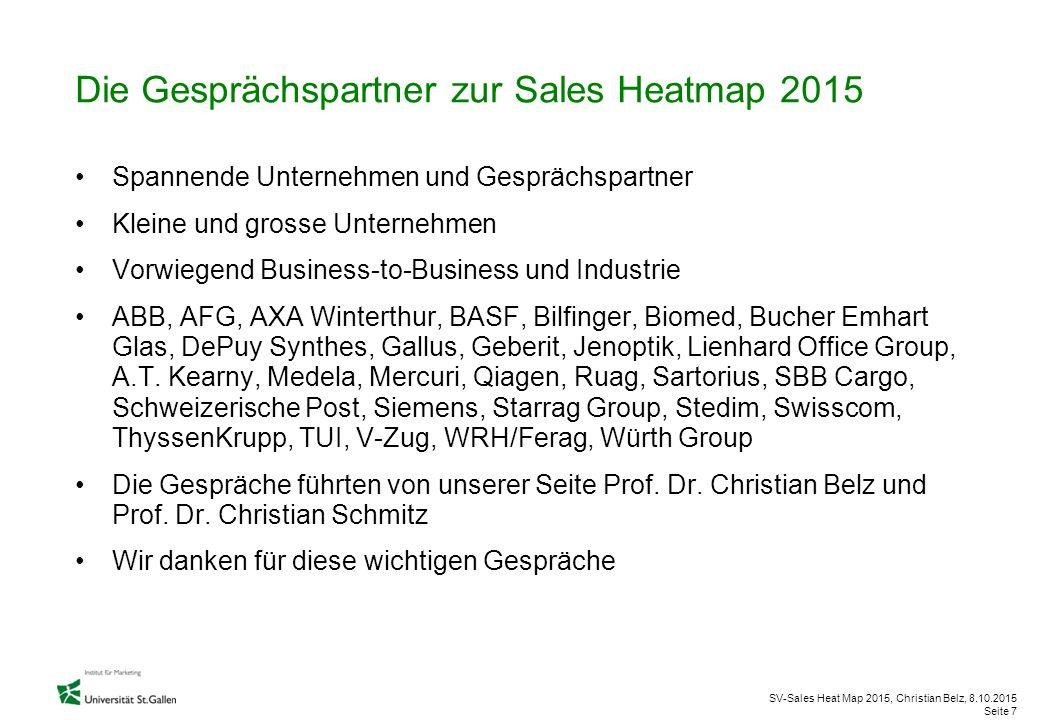 Die Gesprächspartner zur Sales Heatmap 2015