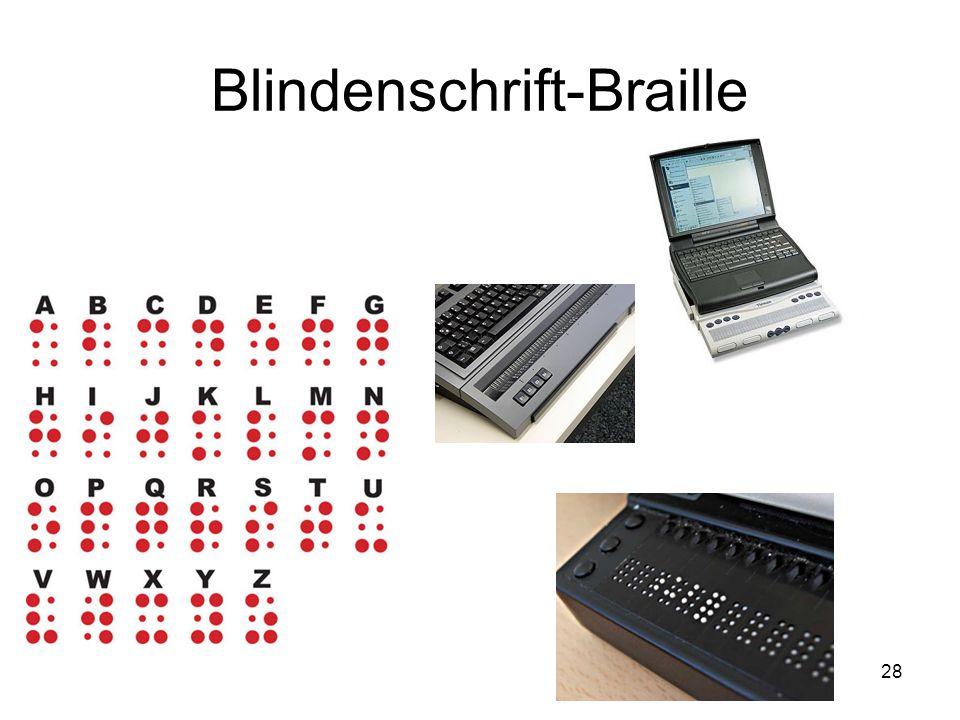 Blindenschrift-Braille