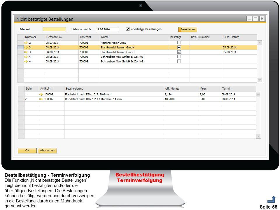 Bestellbestätigung - Terminverfolgung Bestellbestätigung