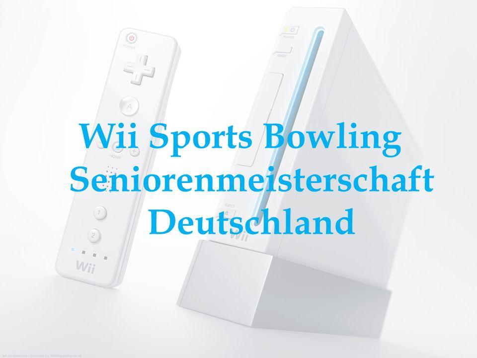 Wii Sports Bowling Seniorenmeisterschaft Deutschland