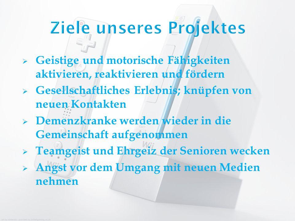 Ziele unseres Projektes